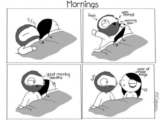 Morgens...