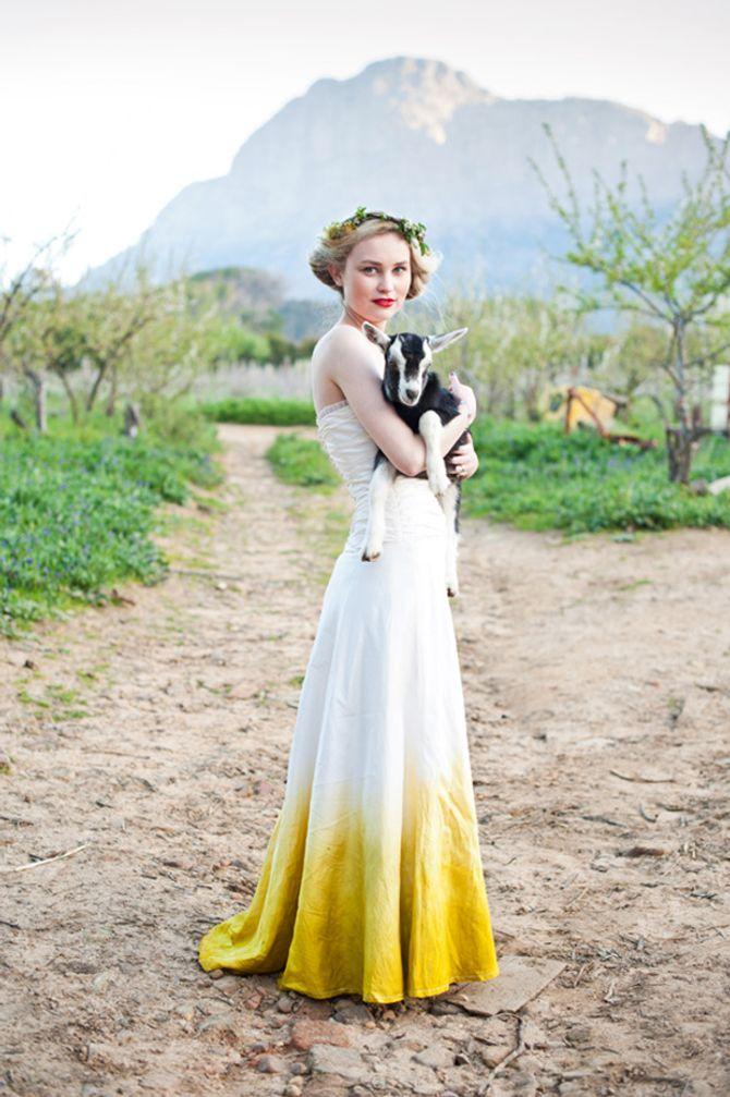 Dip-Dye Brautkleider machen einiges her