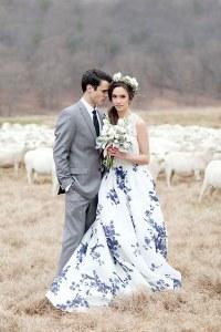 Gemusterte Brautkleider sind immer beliebter