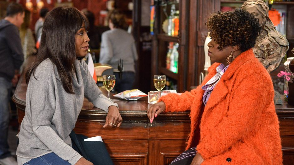 Eastenders 17/02 - Denise And Kim Argue About Denise's Baby