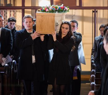 Hollyoaks 14/02 - The McQueens Gather For Celine's Funeral