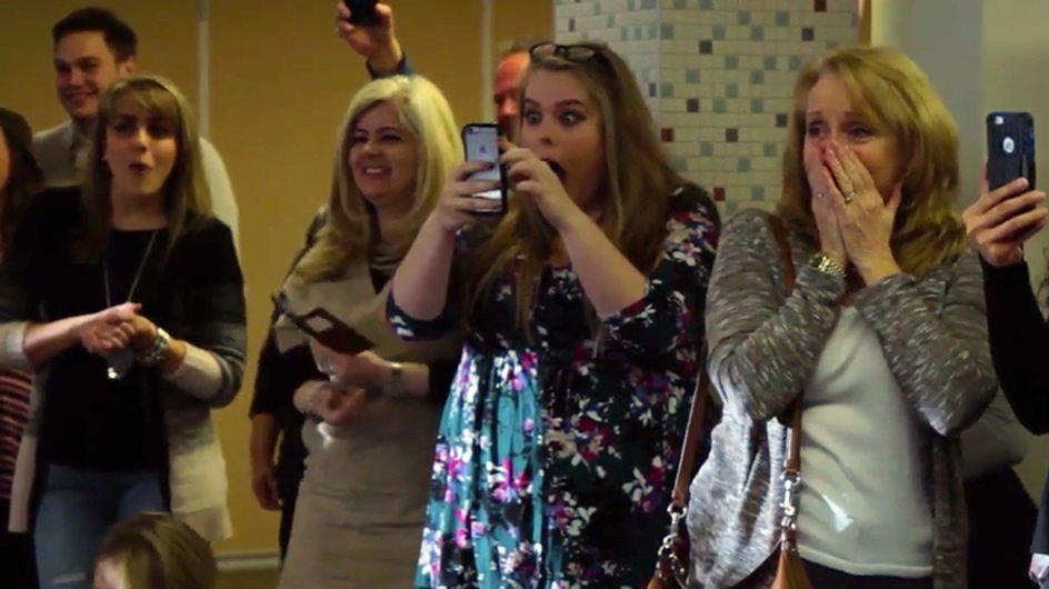 ¡Embarazo con sorpresa! La genial reacción de una familia al conocer la noticia