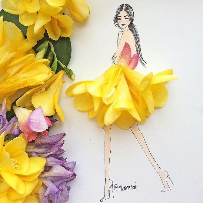 croqui de flores