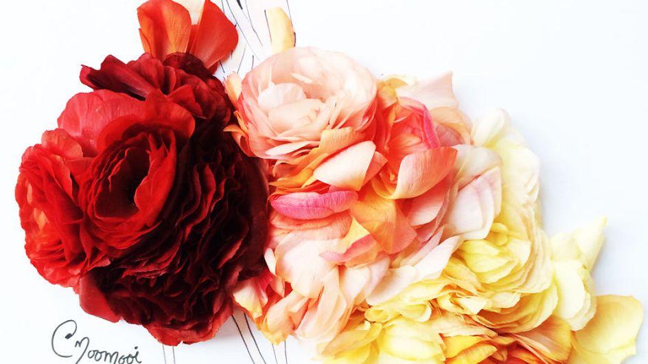 Você vai amar os inusitados croquis feitos com flores e vegetais
