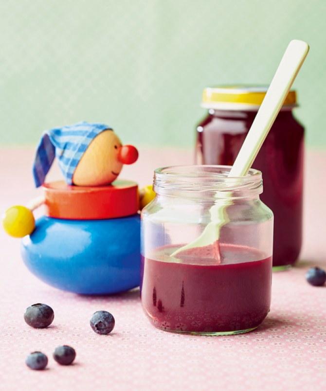 Babybrei aus dem Thermomix: Rezept für Blaubeer-Apfel-Pürree