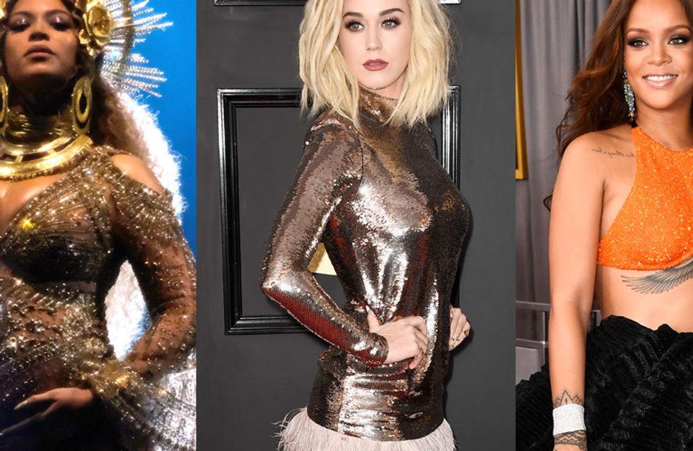 Beyoncé enceinte, Rihanna, Katy Perry... Les meilleurs looks des Grammy Awards en images