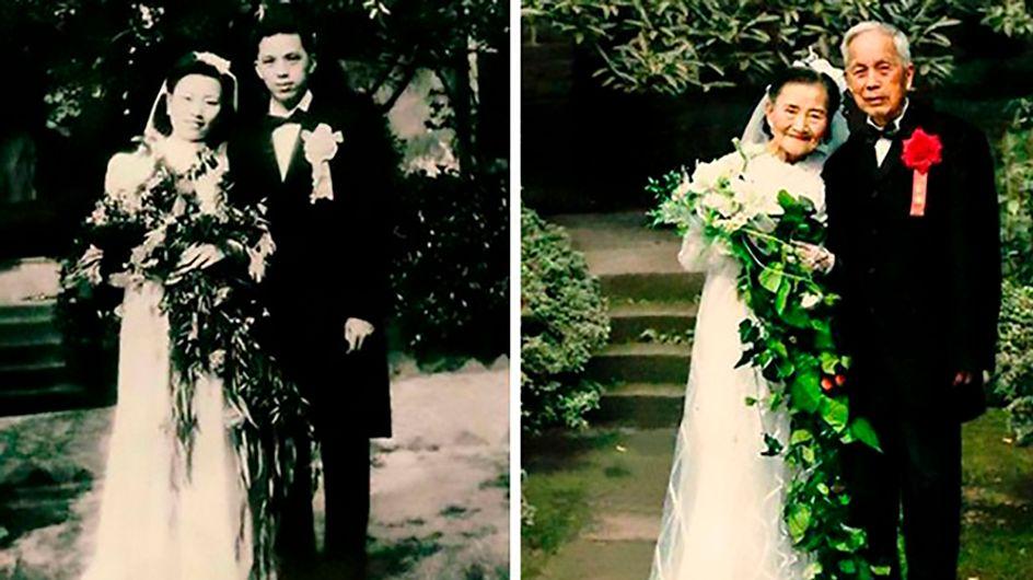 ¡Felices para siempre! Estas parejas recrean sus fotos después de muchos años juntos