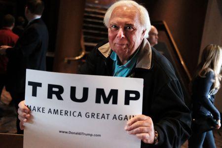 Un manifestant pro-Trump