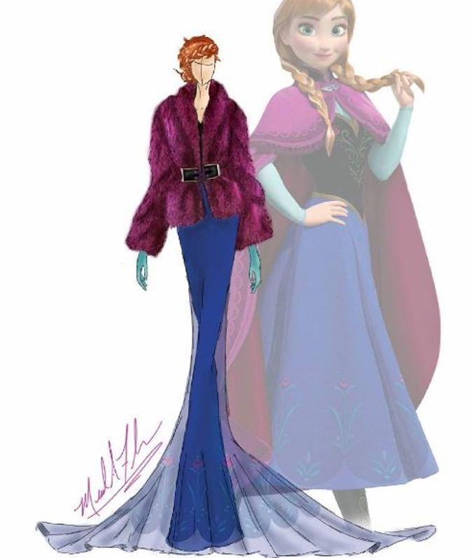 2ca1b3259d4 Ce designer remet les robes de princesses Disney au goût du jour