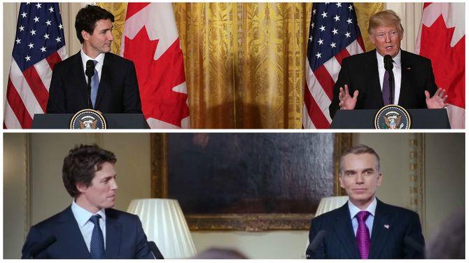 Justin Trudeau et Donald Trump VS Love Actually