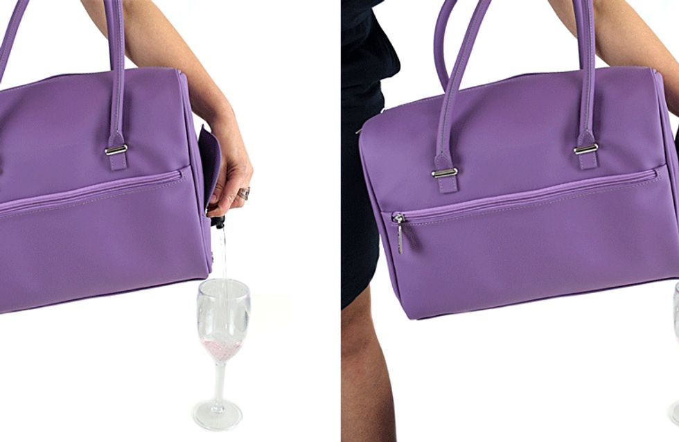 This Wine Handbag Could Be The Most Fashionable Way To Drink Vino Yet
