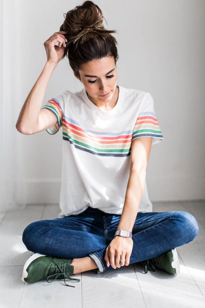 Schnelle Frisuren für ungewaschene Haare: der Messy Bun