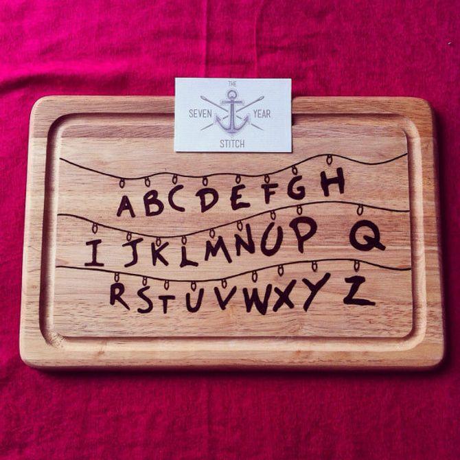 Tabla de cortar abecedario