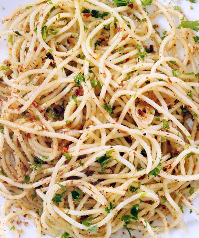 Auch Pasta wird aus Weißmehl hergestellt.