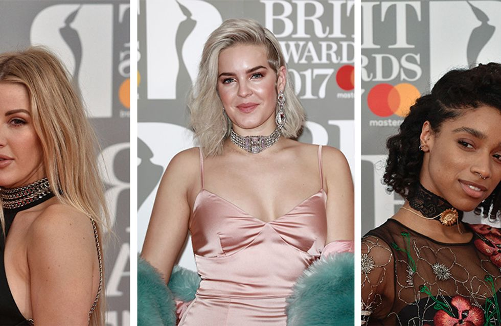 Peachy Makeup Ruled The Red Carpet At The Brit Awards 2017