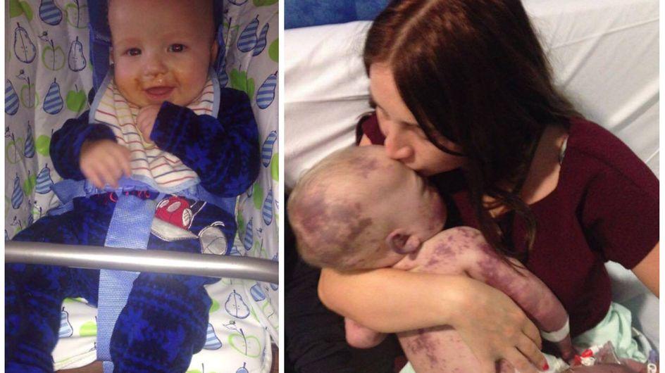 Sie küsst ihr sterbendes Baby ein letztes Mal - warum eine Mama nun dieses traurige Foto veröffentlicht