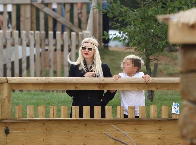 Gwen Stefani con su hijo