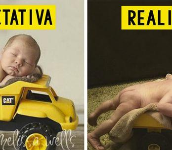 Expectativa vs realidad: 30 fotografías de bebés que no salieron –ni de lejos- c