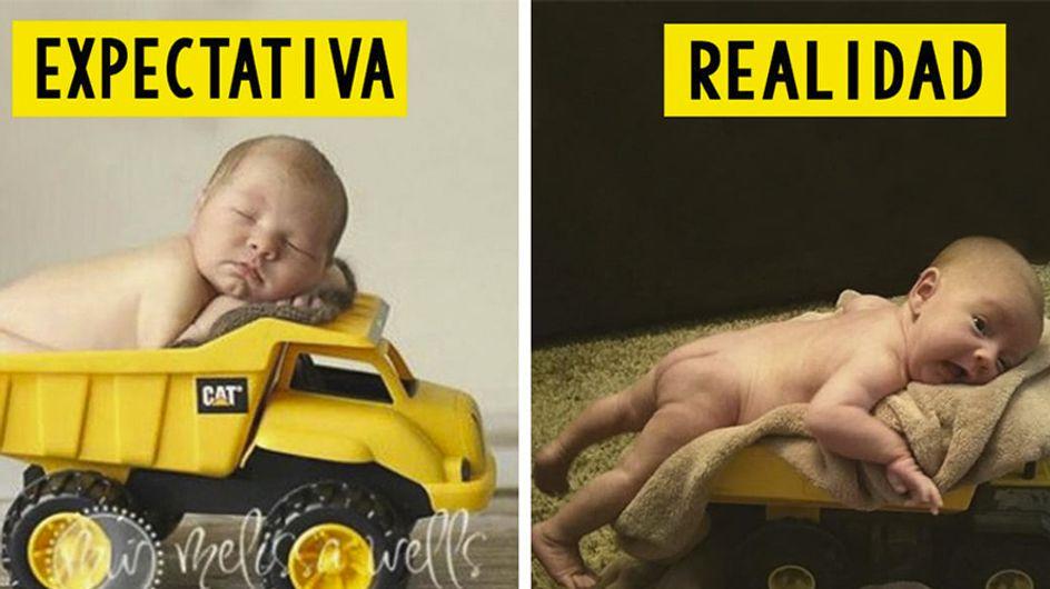 Expectativa vs realidad: 30 fotografías de bebés que no salieron –ni de lejos- como se esperaba