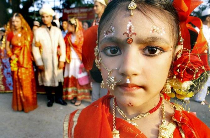 Une petite bangladaise