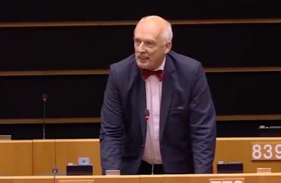 Le député polonais sanctionné par le Parlement européen pour ses propos sexistes