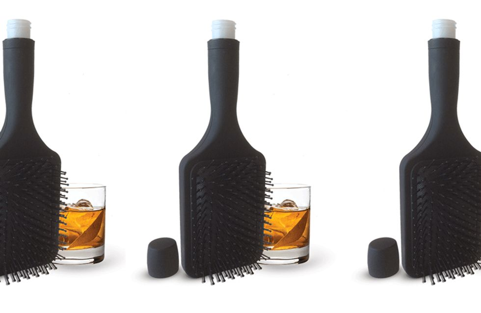 This Hairbrush That's Actually A Flask Will Change Your Life & Your Locks