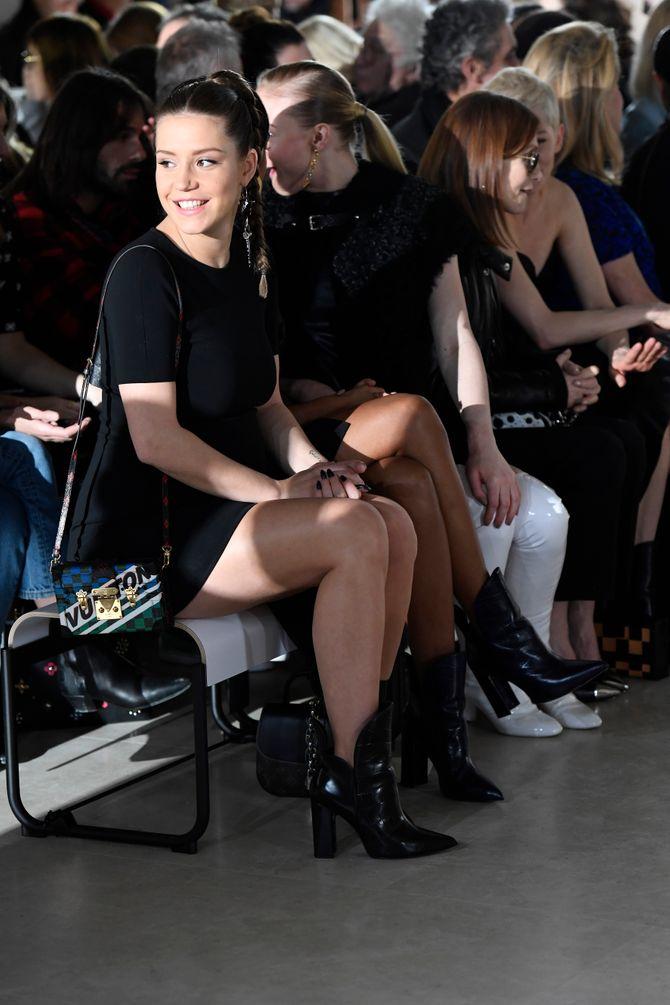 Adèle Exarchopoulos au défilé Louis Vuitton