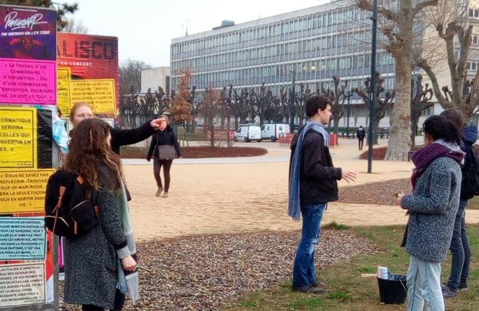 Trouvez-vous un mari riche, l'université de Strasbourg placardée de messages sexistes