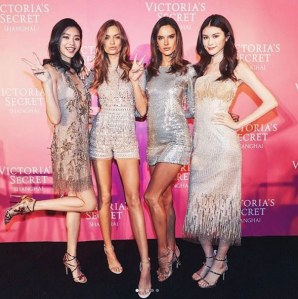 Ming Xi, Josephine Skriver, Alessandra Ambrosio et Sui He