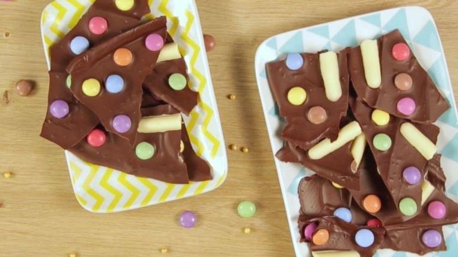 Recette : une tablette de chocolat colorée et gourmande (vidéo)