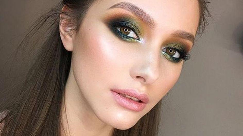 25 imágenes que prueban que el greenery será el color de tu maquillaje en 2017