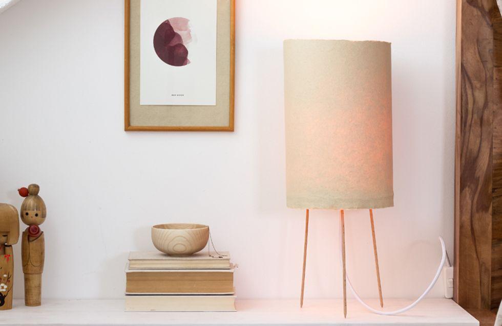 Asia-Flair im Schlafzimmer: So einfach baut ihr eine DIY-Nachttischlampe selber