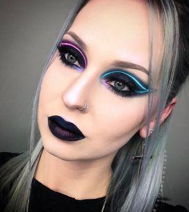 Brilla en la oscuridad con la nueva tendencia de maquillaje neón