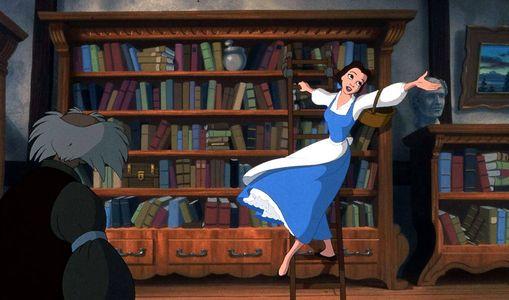 Belle et sa robe bleue