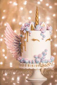 Un dripping cake façon licorne