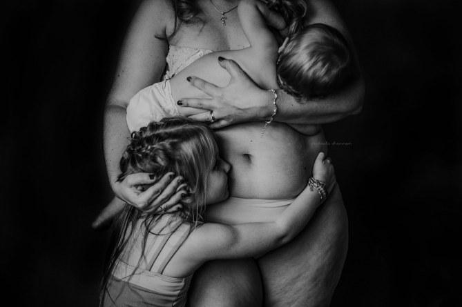 Le corps après l'accouchement, des photos poignantes