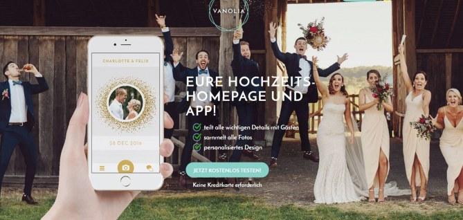 Hochzeits-App: Vanolia