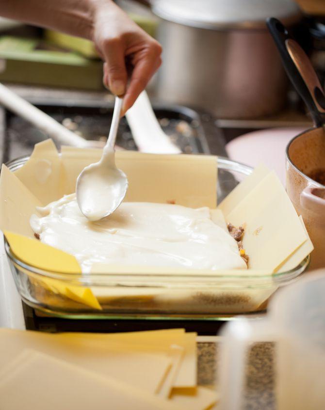 Recette avec de la béchamel : les lasagnes