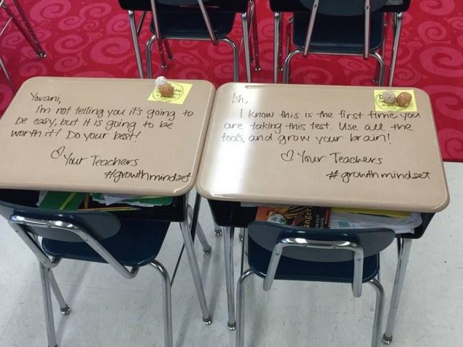 Cette professeur tague les tables de ses élèves pour la bonne cause