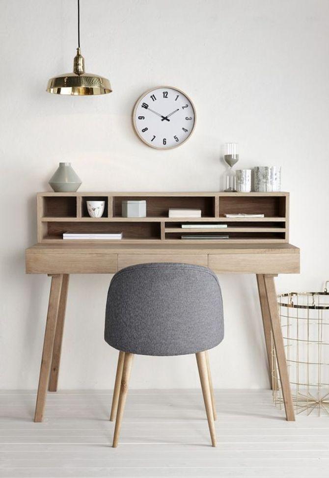 Décoration scandinave : un bureau épuré