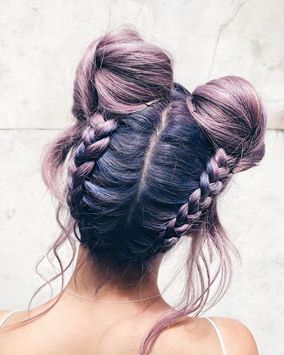 des dizaines d'idées coiffures avec deux tresses !