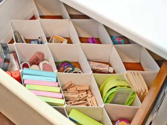 Superb Un Peu De Carton Et à Vous Le Tiroir De Bureau Bien Organisé
