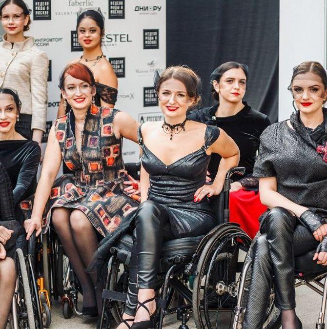 Ensemble des mannequins handicapés qui ont défilé pour Open World
