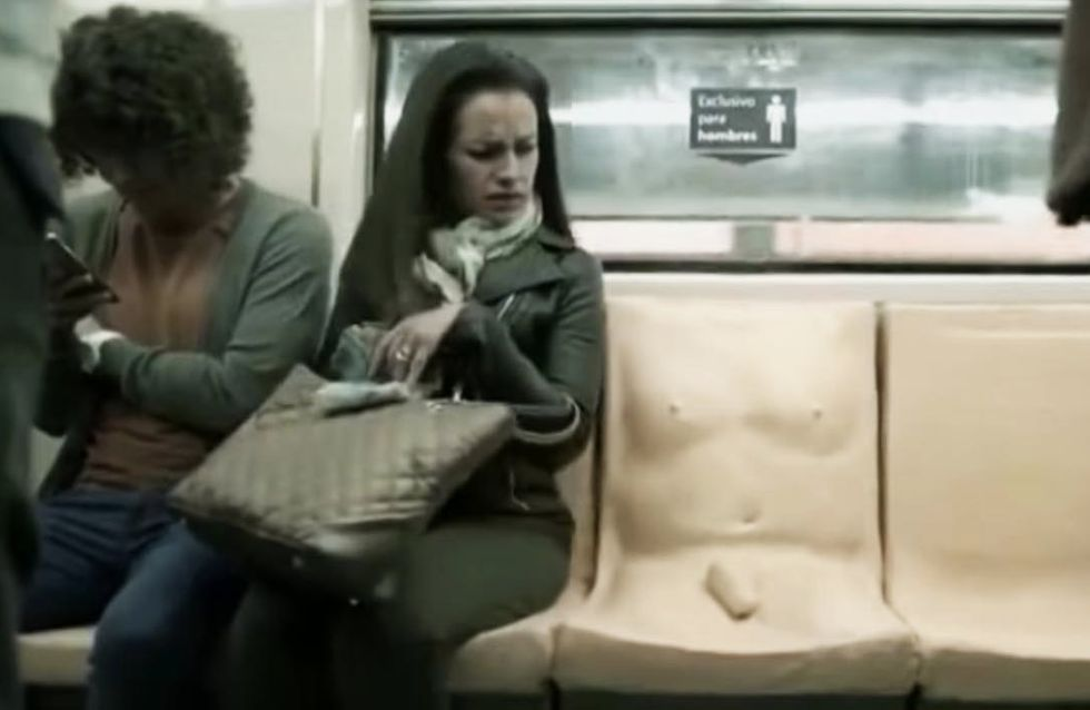 Mexico City Metro Installed A 'Penis Seat' To Raise Awareness For Victims Of Sexual Assault