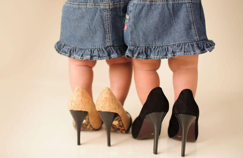 Une marque fait polémique en proposant des chaussures à talons hauts pour les bébés (Photos)