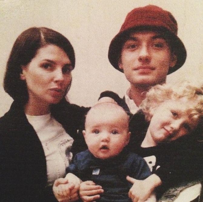 Sadie Frost, Jude Law et leurs enfants