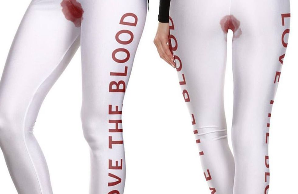 Period Blood-stained Leggings Are Being Sold And There's Just No Need