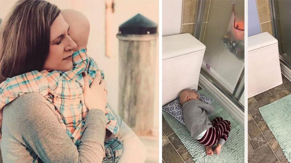 Sie wollte nur kurz duschen - da stirbt ihr Kind: Seine letzten 4 Worte wird seine Mama nie vergessen