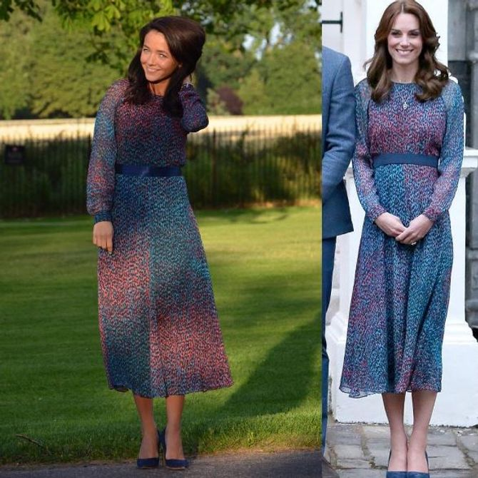 Cette blogueuse mode copie à la perfection les looks de Kate Middleton