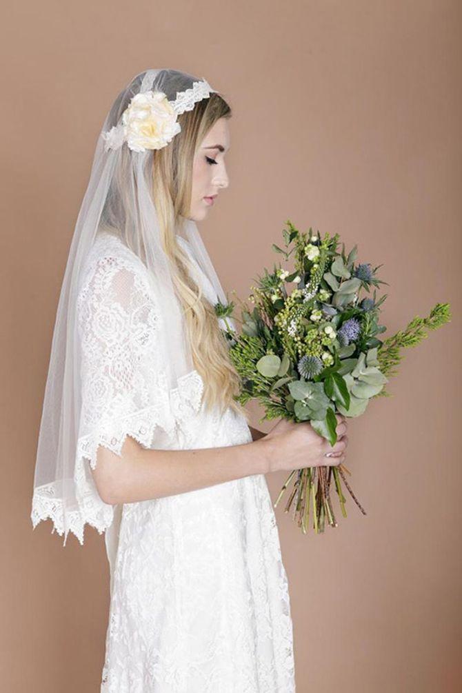 Une robe de mariée bohème et rétro